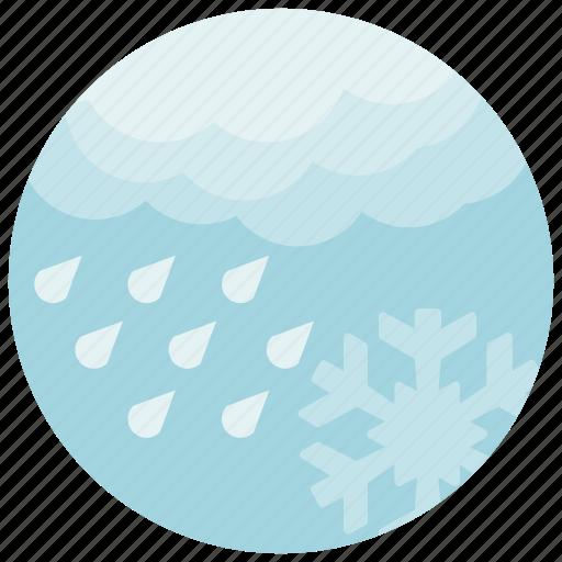forecast, rain, snowflake, weather icon