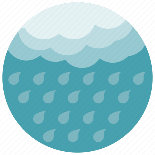 cloud, forecast, raining, weather icon