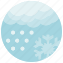 cloud, forecast, snow, snowflake, weather