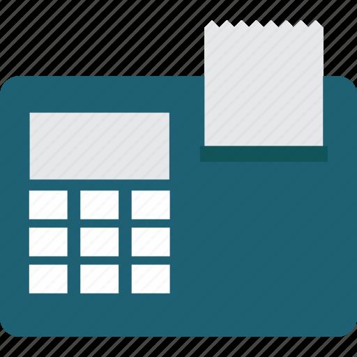 calculator, print, printer icon
