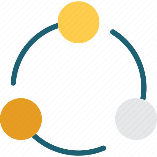 circles, media, network, shapes, share, social icon