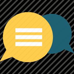 chat, chatting, conversation, message, speech, speechbubble, technology icon