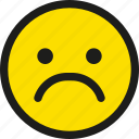 emoji, emoticon, emotion, face, sad, smile, smiley icon