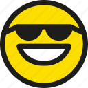 cool, emoji, emoticon, face, happy, smile, smiley icon