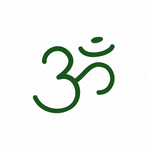 aum, doodle, hinduism, india, om, sign icon