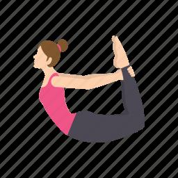 body, exercise, gym, pose, sport, women, yoga icon