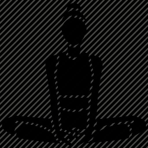angle, asana, bound, pose, stretch, yoga icon