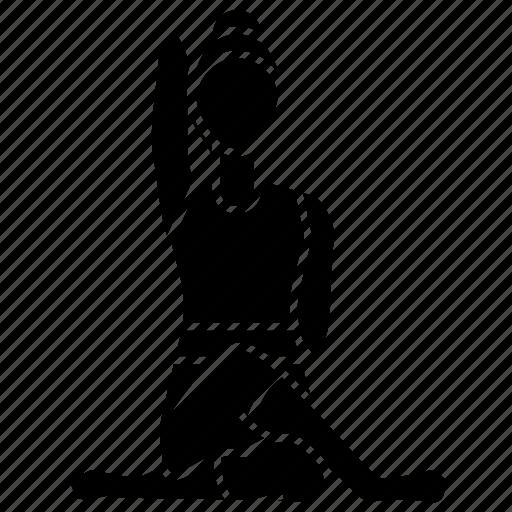 asana, cow, face, fitness, pose, stretch, yoga icon