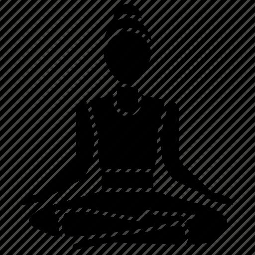 asana, fire, fitness, log, meditation, pose, yoga icon