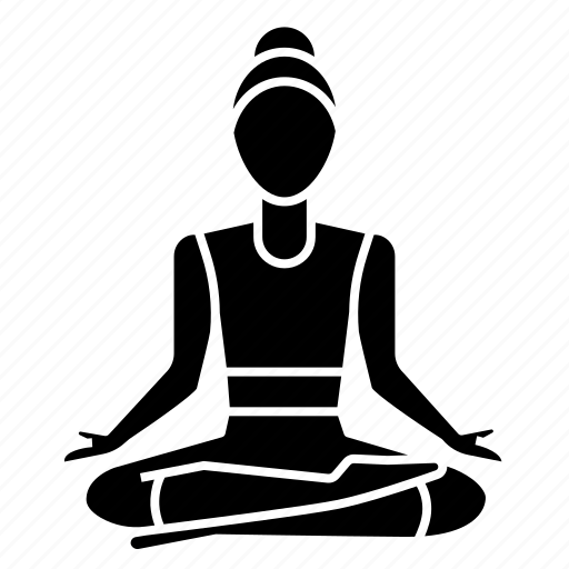 asana, fitness, half, lotus, meditation, pose, yoga icon
