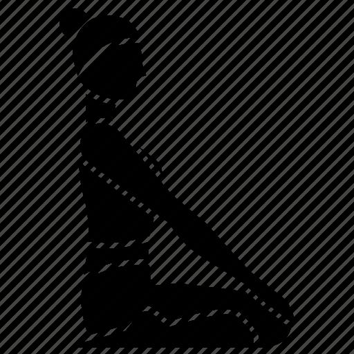 asana, fitness, health, hero, mind, pose, yoga icon