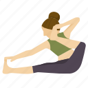 archer, exercise, pose, yoga icon