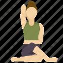 cow, face, pose, yoga