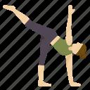 half, moon, pose, yoga