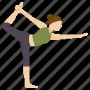 dancer, exercise, king, pose, yoga icon