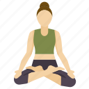 Meditation Pose Staff Yoga Icon