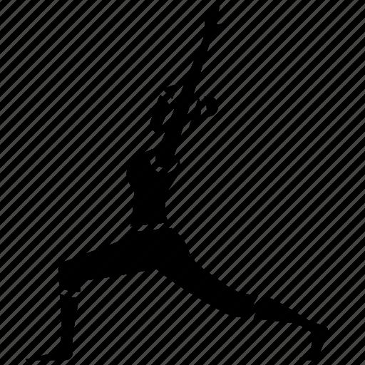 balance, fitness, low, lunge, pose, yoga icon