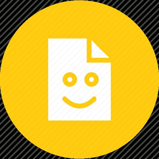 emoji, emotion, file, good, situation, smiley icon