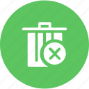 block, cancel, dustbin, garbage, junk, trash, waste icon