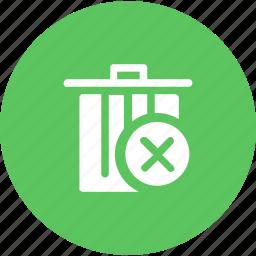 block, cancel, dustbin, garbage, junk, trash, waste icon