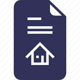 credit, documents, file, house, mortgage, page, yumminky icon