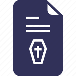 certificate, chest, coffin, death, documents, file, yumminky icon