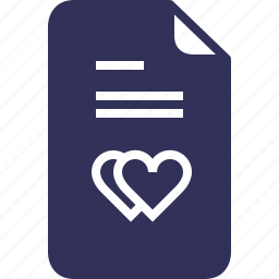 documents, file, hearts, love, marriage, wedding, yumminky icon