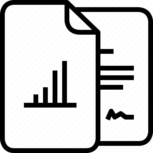 diagram, documents, file, graph, list, report, yumminky icon