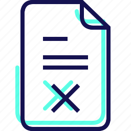 delete, document, fitness, gym, not completed, tasks, yumminky icon