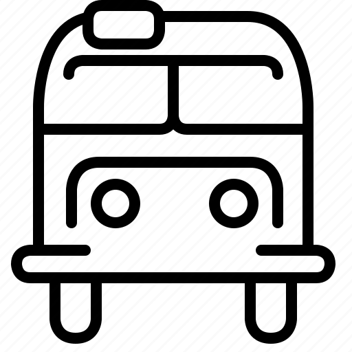 bus, car, hipster, transport, travel, vehicle, yumminky icon