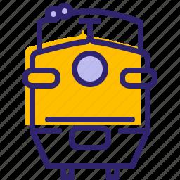 hipster, rail, railway, trafic, train, traveling, yumminky icon