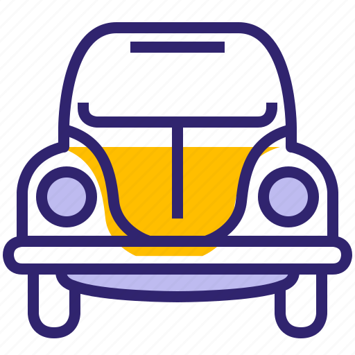 beetle, car, hipster, traveling, vehicle, volkswagen, yumminky icon