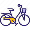 bicycle, bike, cycling, hipster, sport, traveling, yumminky icon