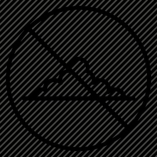 ban, farm, forbid, mole, molehill, pest, yummy icon