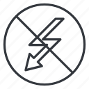 flash, flashlight, high voltage, lightning, no charge, photo, yummy icon
