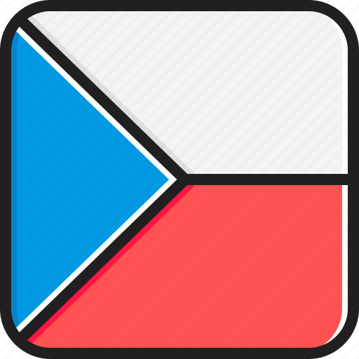 czech, flag, republic icon