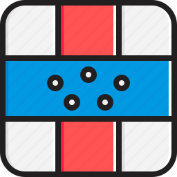 antilles, flag, netherlands icon