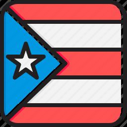 flag, puerto, rico icon