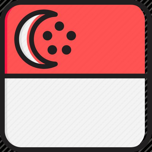 Flag, singapore icon - Download on Iconfinder on Iconfinder