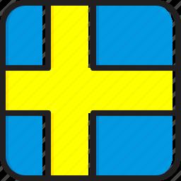 flag, sweden icon