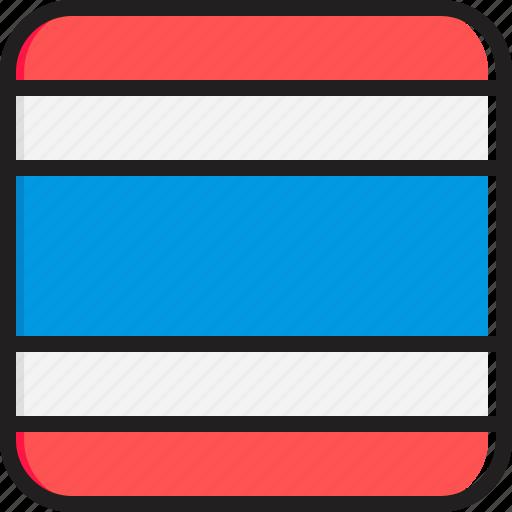 flag, thailand icon