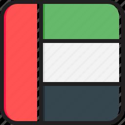 arab, emirates, flag, uni icon
