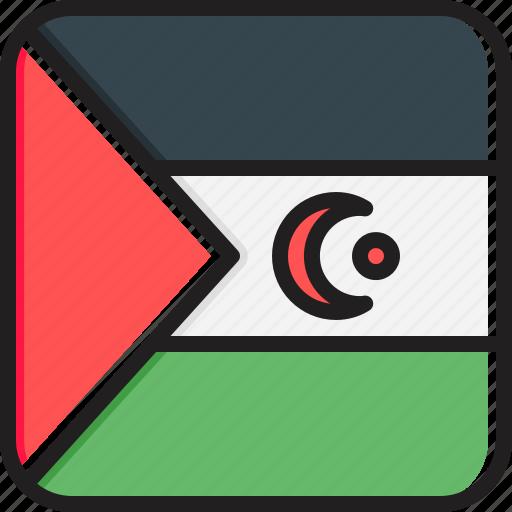 flag, sahara, western icon