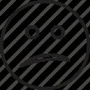 confused, emoticon, face, smiley