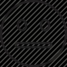 emoticon, face, neutral, smiley icon