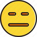 emoticon, expressionless, face, smiley