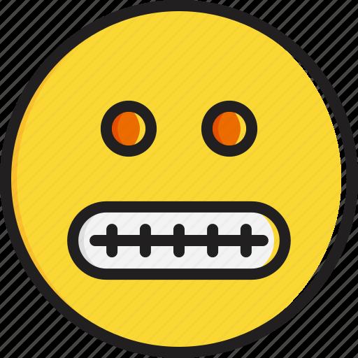 emoticon, face, grimacing, smiley icon