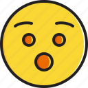 emoticon, face, hushed, smiley icon
