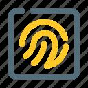 finger, fingerprint, print, security, sensor icon