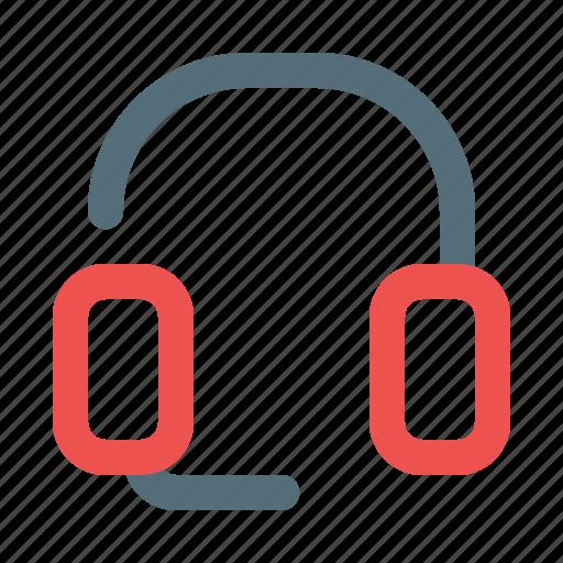 headset, mic, music icon